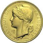 Photo numismatique  ARCHIVES VENTE 2015 -19 juin MODERNES FRANÇAISES 5ème RÉPUBLIQUE (Depuis le 4 octobre 1958)  Projet du module de 20 francs or, bicentenaire de la Révolution, 1989.