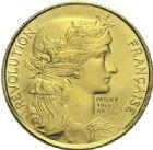 Photo numismatique  ARCHIVES VENTE 2015 -19 juin MODERNES FRANÇAISES 5e REPUBLIQUE (Depuis le 4 octobre 1958)  Projet du module de 20 francs or, bicentenaire de la Révolution, 1981.