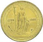 Photo numismatique  ARCHIVES VENTE 2015 -19 juin MODERNES FRANÇAISES 5ème RÉPUBLIQUE (Depuis le 4 octobre 1958)  Projet du module de 20 francs or, bicentenaire de la Révolution, 1981.
