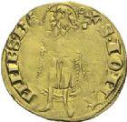 Photo numismatique  ARCHIVES VENTE 2015 -19 juin BARONNIALES Evêché de CAMBRAI PIERRE IV d'André (1349-1368) Florin d'or à la hure de sanglier.