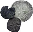 Photo numismatique  ARCHIVES VENTE 2015 -19 juin BARONNIALES Comté de HAINAUT GUILLAUME III de Bavière dit l'Insensé (1356-1389) Lot de 3 monnaies.
