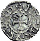 Photo numismatique  ARCHIVES VENTE 2015 -19 juin BARONNIALES Evêché de LAUSANNE Imitation du monnayage de Louis le Pieux Denier du milieu du XIème siècle.