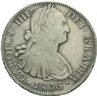 Photo numismatique  MONNAIES MONNAIES DU MONDE MEXIQUE CHARLES IV, roi d'Espagne (1788-1808) 8 réales.