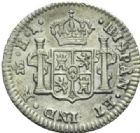 Photo numismatique  MONNAIES MONNAIES DU MONDE MEXIQUE FERDINAND VII, roi d'Espagne (1808-1821) Demi-réal de 1812.