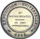 Photo numismatique  ARCHIVES VENTE 2015 -19 juin MEDAILLES MEDAILLES FRANCAISES ET ETRANGERES Exposition de Londres, 1862 Exposition Universelle de Londres, 1862.