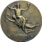 Photo numismatique  ARCHIVES VENTE 2015 -19 juin MÉDAILLES MEDAILLES FRANCAISES ET ETRANGERES Exposition de Paris, 1900 Exposition de 1900, médaille et insigne.