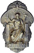Photo numismatique  ARCHIVES VENTE 2015 -19 juin MEDAILLES MEDAILLES FRANCAISES ET ETRANGERES Exposition de Paris, 1900 Exposition de 1900, médaille et insigne.