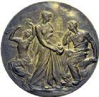 Photo numismatique  ARCHIVES VENTE 2015 -19 juin MÉDAILLES MEDAILLES FRANCAISES ET ETRANGERES Ville de Saint-Etienne Médaille en vermeil de la Chambre de Commerce, 1896.