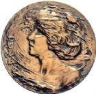Photo numismatique  ARCHIVES VENTE 2015 -19 juin MEDAILLES MEDAILLES FRANCAISES ET ETRANGERES Sarah BERNHARDT Médaille de 1905.
