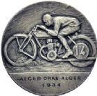 Photo numismatique  ARCHIVES VENTE 2015 -19 juin MÉDAILLES MEDAILLES FRANCAISES ET ETRANGERES Algérie Course de motocyclette Alger-Oran-Alger, 1934.