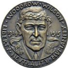 Photo numismatique  ARCHIVES VENTE 2015 -19 juin MEDAILLES MEDAILLES SATIRIQUES ALLEMANDES Médailles de Karl Goetz Woodrow Wilson. Neutralité américaine 1914-1915. Amerikas neutrales Handeln.