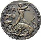 Photo numismatique  ARCHIVES VENTE 2015 -19 juin MÉDAILLES MEDAILLES SATIRIQUES ALLEMANDES  Le Prince Guillaume, (1914-1915). Jung-Siegfried.