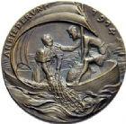 Photo numismatique  ARCHIVES VENTE 2015 -19 juin MEDAILLES MEDAILLES SATIRIQUES ALLEMANDES Médailles de Karl Goetz Rapprochement avec le Vatican, 1914. Anbiederung im Vatikan.