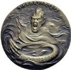 Photo numismatique  ARCHIVES VENTE 2015 -19 juin MÉDAILLES MEDAILLES SATIRIQUES ALLEMANDES Médailles de Karl Goetz Objectif Paix en Amérique, 3 février 1917. Amerikas Friedensziele.