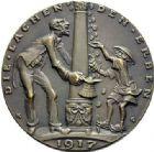 Photo numismatique  ARCHIVES VENTE 2015 -19 juin MEDAILLES MEDAILLES SATIRIQUES ALLEMANDES Médailles de Karl Goetz Suicide de l'Europe, 1917. Europas Selbstmord.