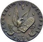 Photo numismatique  ARCHIVES VENTE 2015 -19 juin MÉDAILLES MEDAILLES SATIRIQUES ALLEMANDES Médailles de Karl Goetz Les 14 points de la  Paix américaine.