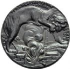 Photo numismatique  ARCHIVES VENTE 2015 -19 juin MEDAILLES MEDAILLES SATIRIQUES ALLEMANDES Médailles de Karl Goetz Bombardement de Paris, 23 mars 1918.