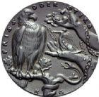 Photo numismatique  ARCHIVES VENTE 2015 -19 juin MEDAILLES MEDAILLES SATIRIQUES ALLEMANDES Médailles de Karl Goetz Juge du Monde, 14 octobre 1918. Entente-Weltrichter.