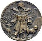 Photo numismatique  ARCHIVES VENTE 2015 -19 juin MEDAILLES MEDAILLES SATIRIQUES ALLEMANDES Médailles de Karl Goetz Mais monsieur – Friedrich der Grosse.