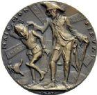 Photo numismatique  ARCHIVES VENTE 2015 -19 juin MÉDAILLES MEDAILLES SATIRIQUES ALLEMANDES Médailles de Karl Goetz Mais monsieur – Friedrich der Grosse.