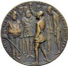 Photo numismatique  ARCHIVES VENTE 2015 -19 juin MEDAILLES MEDAILLES SATIRIQUES ALLEMANDES Médailles de Karl Goetz Le deuil. Die trauernden Hinterbliebenen.