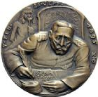 Photo numismatique  ARCHIVES VENTE 2015 -19 juin MEDAILLES MEDAILLES SATIRIQUES ALLEMANDES Médailles de Karl Goetz Lettres de l'empereur au Dr Nicky (1895). Dr Eisenbarth.