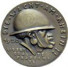 Photo numismatique  ARCHIVES VENTE 2015 -19 juin MÉDAILLES MEDAILLES SATIRIQUES ALLEMANDES Médailles de Karl Goetz Occupation française, 1920. Die schwarze Wacht am Rhein.