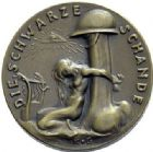 Photo numismatique  ARCHIVES VENTE 2015 -19 juin MEDAILLES MEDAILLES SATIRIQUES ALLEMANDES Médailles de Karl Goetz Occupation française, 1920. Die schwarze Wacht am Rhein.