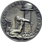 Photo numismatique  ARCHIVES VENTE 2015 -19 juin MÉDAILLES MEDAILLES SATIRIQUES ALLEMANDES Médailles de Karl Goetz Occupation française, 1921. Die schwarze Schmach.