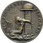 Photo numismatique  ARCHIVES VENTE 2015 -19 juin MEDAILLES MEDAILLES SATIRIQUES ALLEMANDES Médailles de Karl Goetz Occupation française, 1921. Die schwarze Schmach.