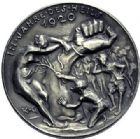 Photo numismatique  ARCHIVES VENTE 2015 -19 juin MEDAILLES MEDAILLES SATIRIQUES ALLEMANDES Médailles de Karl Goetz «Le chapeau de Gessler» dans le Palatinat, 1920. Der Gesslerhut in der Pfalz.
