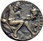 Photo numismatique  ARCHIVES VENTE 2015 -19 juin MÉDAILLES MEDAILLES SATIRIQUES ALLEMANDES Médailles de Karl Goetz Le fossoyeur, 1918. Der Totengräber.