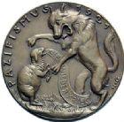 Photo numismatique  ARCHIVES VENTE 2015 -19 juin MÉDAILLES MEDAILLES SATIRIQUES ALLEMANDES Médailles de Karl Goetz Le pacifiscme, 1921. Pazifismus.