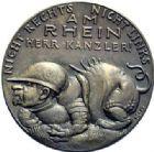 Photo numismatique  ARCHIVES VENTE 2015 -19 juin MÉDAILLES MEDAILLES SATIRIQUES ALLEMANDES Médailles de Karl Goetz Les ennemis du droit, 25 juin 1922. Dr Wirth-, der Feind steht rechts.