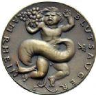 Photo numismatique  ARCHIVES VENTE 2015 -19 juin MÉDAILLES MEDAILLES SATIRIQUES ALLEMANDES Médailles de Karl Goetz Le français «suceur de sang», 1923. Blutsauger am Rhein.