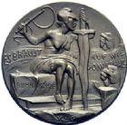 Photo numismatique  ARCHIVES VENTE 2015 -19 juin MEDAILLES MEDAILLES SATIRIQUES ALLEMANDES Médailles de Karl Goetz Cour de brigands à Mayence, 1923. Räubergerichtshof in Mainz.