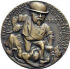 Photo numismatique  ARCHIVES VENTE 2015 -19 juin MEDAILLES MEDAILLES SATIRIQUES ALLEMANDES Médailles de Karl Goetz Occupation de la Ruhr, 1919-1923.