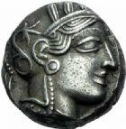 Photo numismatique  ARCHIVES VENTE 2015 -19 juin DERNIERE MINUTE MONNAIE GRECQUE. Athènes  Tétrédrachme (vers 415-407).