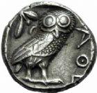 Photo numismatique  ARCHIVES VENTE 2015 -19 juin DERNIÈRE MINUTE MONNAIE GRECQUE. Athènes  Tétrédrachme (vers 415-407).