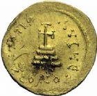 Photo numismatique  ARCHIVES VENTE 2015 -19 juin DERNIERE MINUTE MONNAIE BYZANTINE. Héraclius et H. Constantin (610-641)  Solidus, Constantinople.
