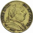 Photo numismatique  ARCHIVES VENTE 2015 -19 juin DERNIERE MINUTE FRANCE. Louis XVIII (1814-1824)  20 francs or, Paris 1815.