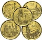 Photo numismatique  ARCHIVES VENTE 2015 -19 juin DERNIERE MINUTE SUISSE. Médailles des églises  Lot de 5 médailles d'or.