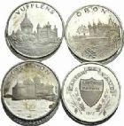 Photo numismatique  ARCHIVES VENTE 2015 -19 juin DERNIÈRE MINUTE SUISSE. Médailles des forteresses  Lot de 11 monnaies et jetons dont Coffret de 8 jetons.