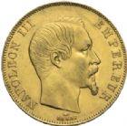 Photo numismatique  MONNAIES MODERNES FRANÇAISES NAPOLEON III, empereur (2 décembre 1852-1er septembre 1870)  50 francs or, Paris 1857.