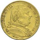 Photo numismatique  MONNAIES MODERNES FRANÇAISES LOUIS XVIII, 1ère restauration (3 mai 1814-20 mars 1815)  20 francs, Perpignan 1815.