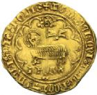 Photo numismatique  MONNAIES ROYALES FRANCAISES CHARLES VI (16 septembre 1380-21 octobre 1422)  Agnel d'or, 1ère émission, Villeneuve-Saint-André.