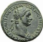 Photo numismatique  MONNAIES EMPIRE ROMAIN DOMITIEN César (69-81) Auguste (81-96)  As, Rome 92-94.