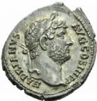 Photo numismatique  MONNAIES EMPIRE ROMAIN HADRIEN (117-138)  Denier, Rome.