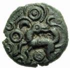 Photo numismatique  MONNAIES GAULE - CELTES AMBIANI (Bassin de la Somme)  Bronze.
