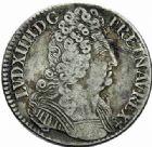 Photo numismatique  MONNAIES ROYALES FRANCAISES LOUIS XIV (14 mai 1643-1er septembre 1715)  1/2 écu aux trois couronnes, Amiens 1709.